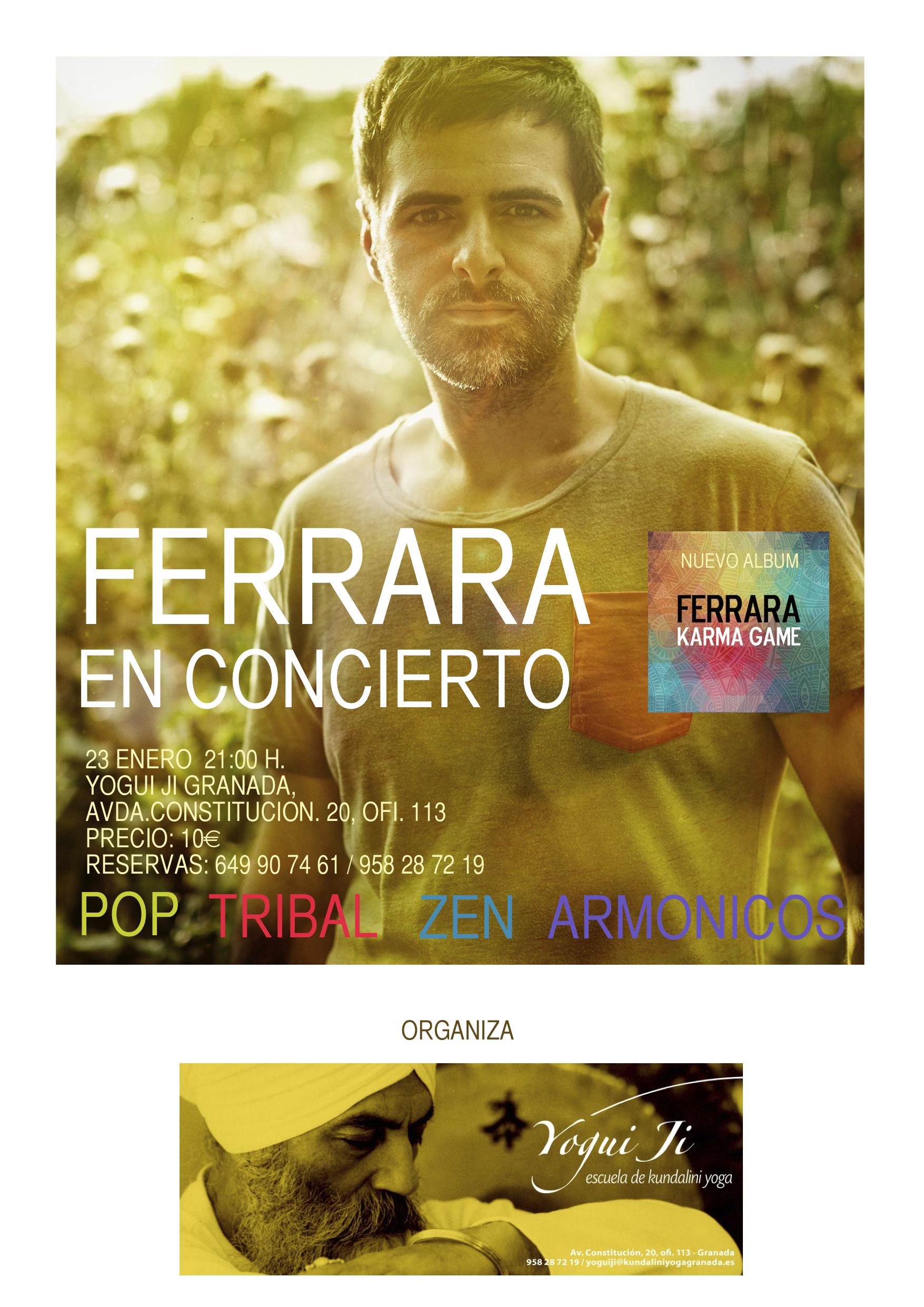 Antonio Ferrara presenta su nuevo álbum Karma Games en YoguiJi el 23/01/15