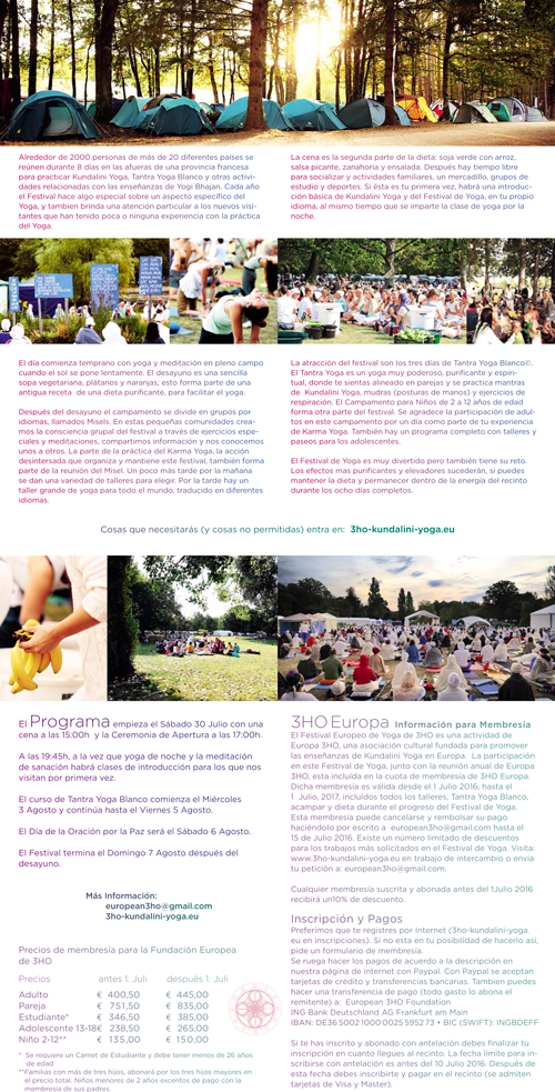 Yoga Festival Francia 2016