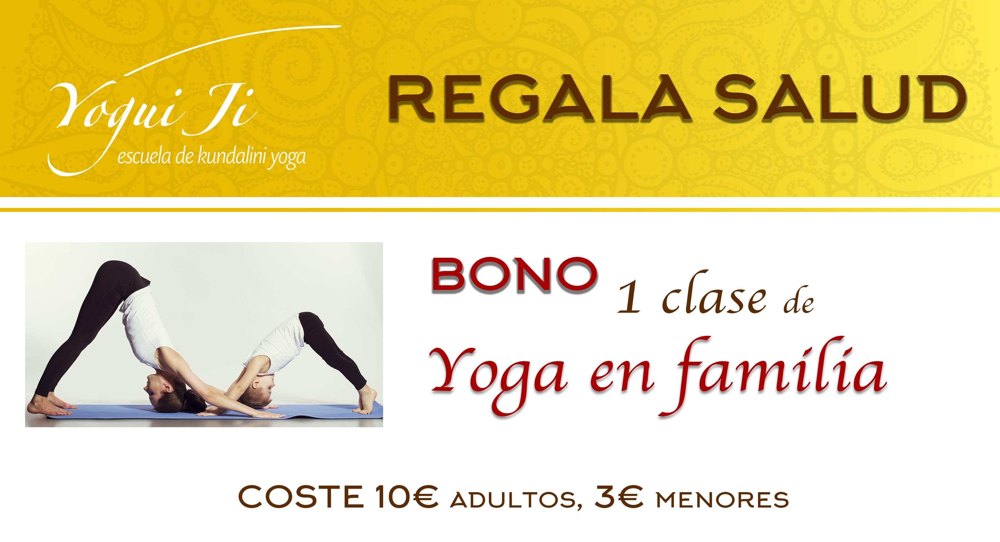 Bono yoga en familia