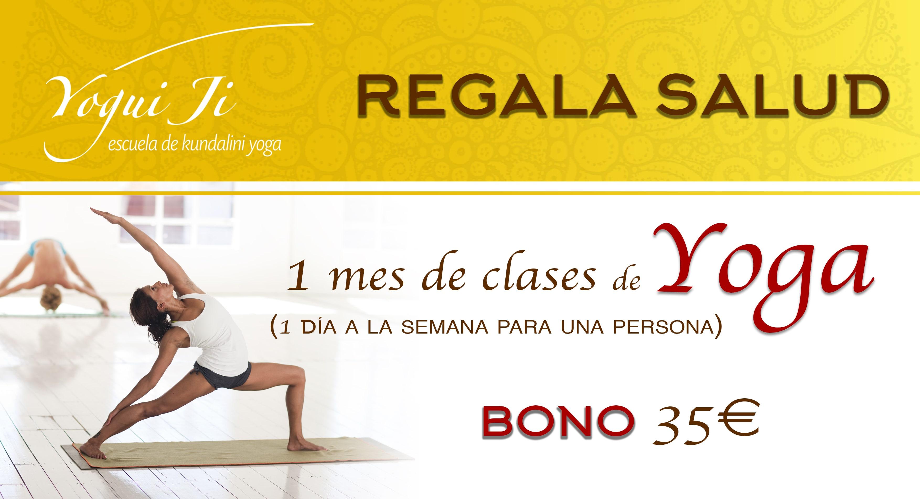 Bono clases de yoga