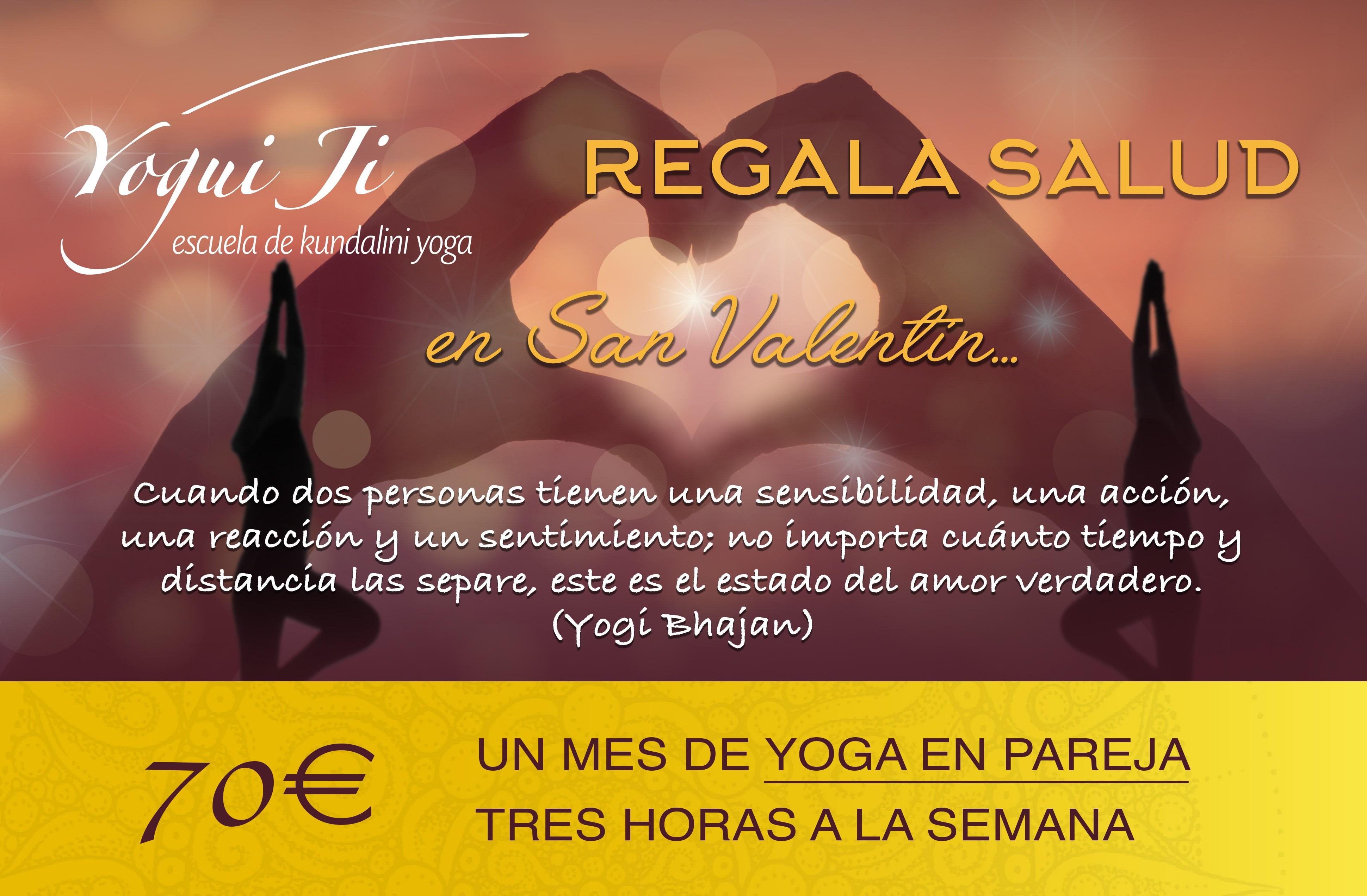 Bono regalo yoga San Valentín